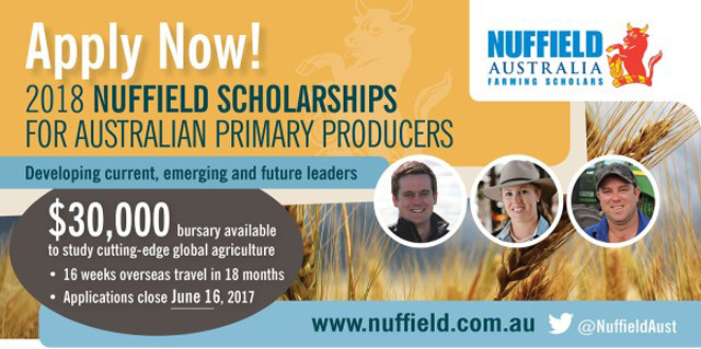 Nuffield scholarship applications open