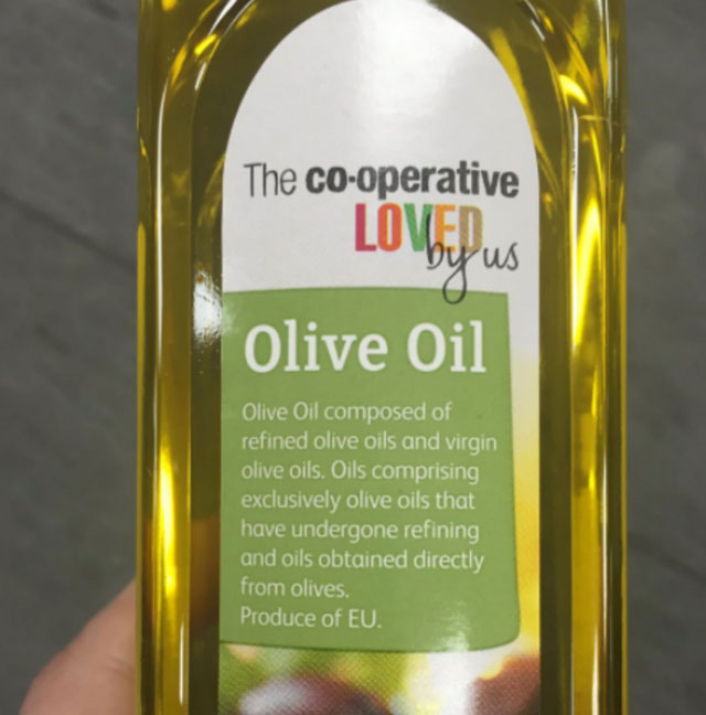 """Co-op ridiculed over """"meaningless"""" olive oil label"""